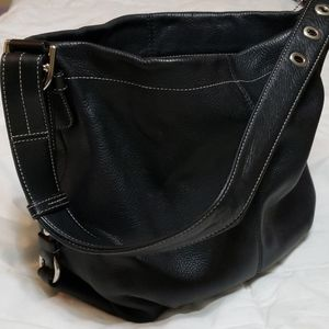 Woman's black Coach handbag